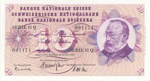 Il %2210 franchi%22 che raffigurava Gottfried Keller