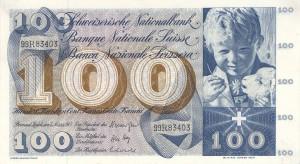 Un fanciullo e un agnellino sui biglietti da 100 franchi