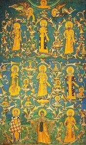 Loza Nemanjića, freska u manastiru Dečani